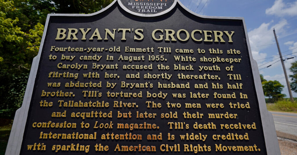 Questions Swirl After Yet Another Emmett Till Sign Comes Down