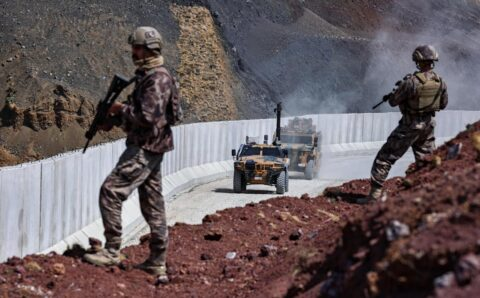 Turkey builds a wall to keep out Afghan refugees