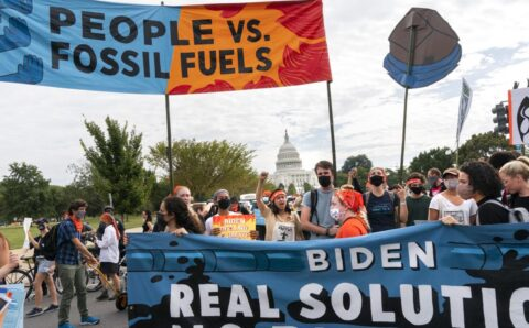 Climate activists resume weeklong protest at Capitol